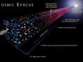 Это иллюстрация, показывающая космические эпохи Вселенной
