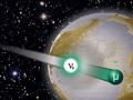 Нейтрино рождаются в атмосфере и регистрируются в детекторах