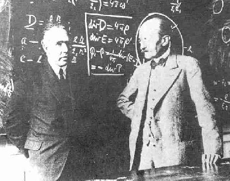 Бор и Планк развивают квантовую механику.