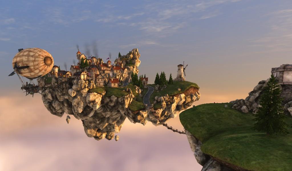 Небесная деревня из видеотеста Heaven