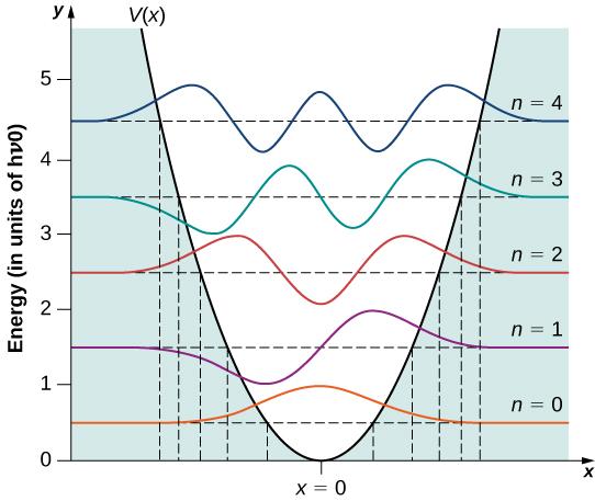Энергетические уровни квантового осциллятора